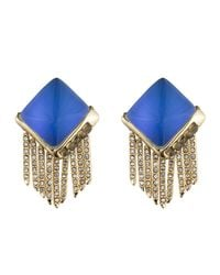 Alexis Bittar | Blue Lucite Fringe Pyramid Clip Earring You Might Also Like | Lyst