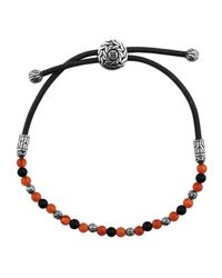 John Hardy | Red Classic Chain Meteorite Round Beads Cord Bracelet | Lyst