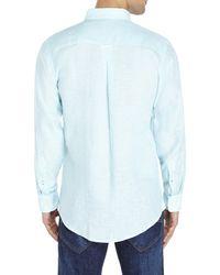 Mine - Blue Linen Shirt for Men - Lyst