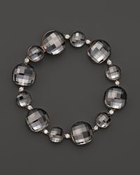 Roberto Coin - Metallic 18k Rose Gold Cocktail Double Quartz And Diamond Bracelet - Lyst