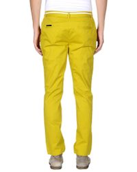 ELEVEN PARIS - Yellow Casual Trouser for Men - Lyst