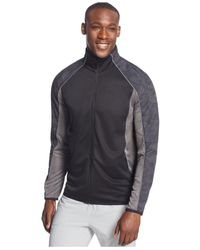 Calvin Klein | Gray Performance Printed Mixed-media Track Jacket for Men | Lyst