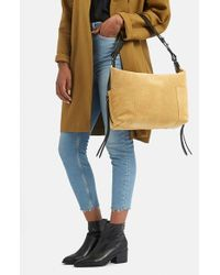 TOPSHOP | Yellow Structured Suede Hobo | Lyst