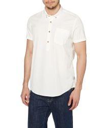 Barbour | White Plain Classic Fit Short Sleeve Collar Shirt for Men | Lyst