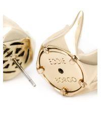 Eddie Borgo - Metallic 'rose Bud' Stud Earrings - Lyst