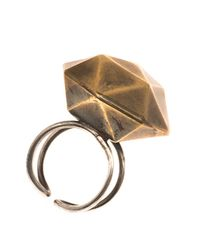 Beth Orduna | Metallic Faceted Brass Ring | Lyst