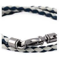 Tod's | Blue Braided Two Layer Bracelet for Men | Lyst