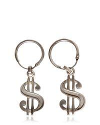 Saint Laurent - Metallic Dollar Drop Earrings for Men - Lyst