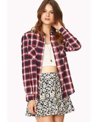 Forever 21 | Purple Classic Plaid Shirt | Lyst