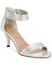 Style & Co. | Metallic Style&co. Paycee Two-piece Dress Sandals, Only At Macy's | Lyst