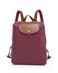 Longchamp | Purple Backpack - Le Pliage | Lyst