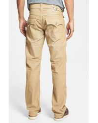 True Religion - Natural 'ricky' Relaxed Fit Corduroy Pants for Men - Lyst