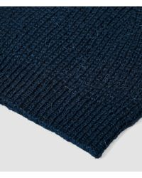 AllSaints - Blue Montall Beanie Hat for Men - Lyst