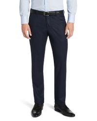 BOSS - Blue 'gustaf' | Slim Fit, Virgin Wool Dress Pants for Men - Lyst