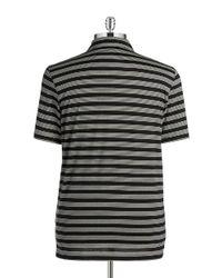 Michael Kors | Black Striped Polo for Men | Lyst