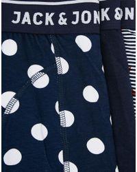 Jack & Jones - Multicolor 3 Pack Trunks With Star Print for Men - Lyst