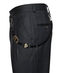 Lords & Fools | Black Glass Beads Pocket Chain | Lyst