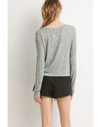 Forever 21 | Green Textured Knit Sweater You've Been Added To The Waitlist | Lyst