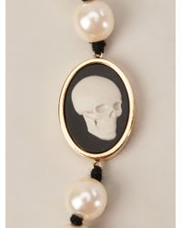 Paul Smith | White Skull Cameo Necklace | Lyst