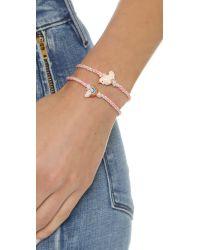 Venessa Arizaga - Red Rainbow + Unicorn Friendship Bracelet Set - Strawberry - Lyst