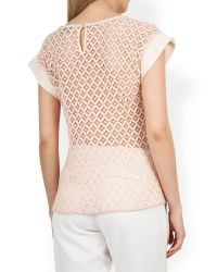 Closet - Natural Blossom Lace Back Top - Lyst