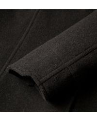 Onassis Clothing | Black Double Face Wool Coat for Men | Lyst