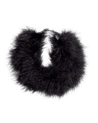 H&M - Black Feather Necklace - Lyst