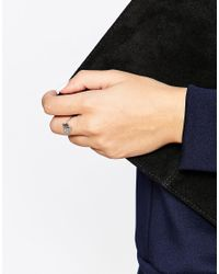 KENZO - Metallic Rhodium Sterling Silver Mini Tiger Ring - Lyst