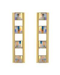 Stella Valle - Metallic Bahrain Bar Earrings - Lyst