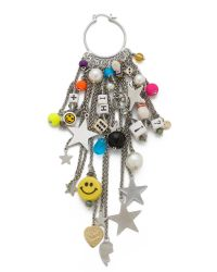 Venessa Arizaga | Metallic Meteor Shower Earring - Silver Multi | Lyst