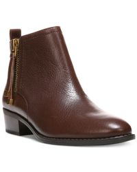 Franco Sarto | Brown Skylar Booties | Lyst