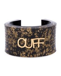 MM6 by Maison Martin Margiela | Brown Letter Appliqué Cuff | Lyst