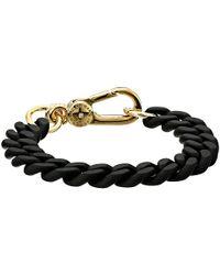 Marc By Marc Jacobs | Black Key Items Rubber Chain Bracelet | Lyst