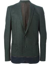 Kolor | Green Contrast Hem Blazer for Men | Lyst