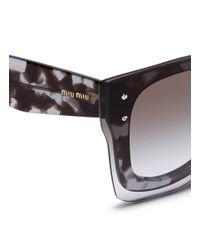 Miu Miu   Purple Oversize Lens Tortoiseshell Square Acetate Sunglasses   Lyst