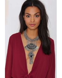Nasty Gal | Metallic Archana Beaded Necklace | Lyst