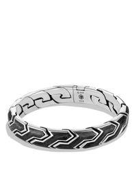David Yurman | Metallic Forged Carbon Link Bracelet for Men | Lyst