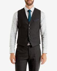 Ted Baker | Gray Birdseye Design Waistcoat for Men | Lyst