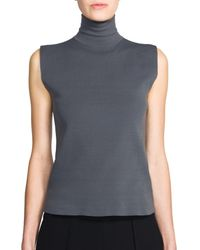 Marni | Gray Sleeveless Knit Turtleneck | Lyst