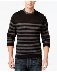Weatherproof | Black Vintage Striped Crew-neck Sweater for Men | Lyst