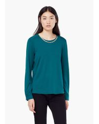 Mango - Green Chain Detail Blouse - Lyst