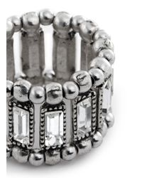 Philippe Audibert | Metallic 'titia' Emerald Cut Crystal Ring | Lyst