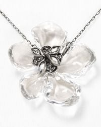Alexis Bittar - Metallic Lucite Tremble Petal Pendant Necklace 15 - Lyst