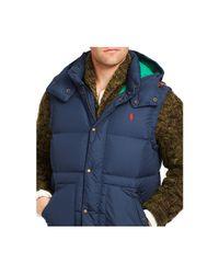 Polo Ralph Lauren - Blue Elmwood Down-feathers Vest for Men - Lyst