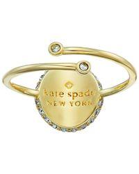 kate spade new york - Metallic Forever Mine M Ring - Lyst