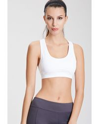 Forever 21 | White High Impact - Mesh-back Sports Bra You've Been Added To The Waitlist | Lyst