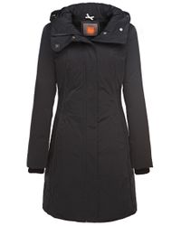BOSS Orange - Black Down Coat 'odoro6_fur' In Water-repellent Material - Lyst