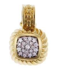 David Yurman | Metallic Women's Pre Owned Albion Enhancer Diamond 18k Yellow Gold Pendant | Lyst
