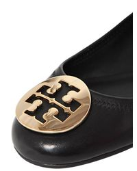 Tory Burch - Twiggie Black Patent Leather Ballerina - Lyst