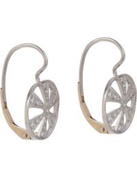 Cathy Waterman | White Women's Wheel Drop Earrings | Lyst